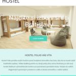 hostel folks tvorba webovej stránky tablet