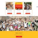 oz free time webdizajn stránka táborov